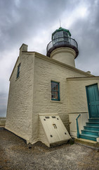 San Diego Lighthouse (danielledufour430) Tags: sandiego california lighthouse building architecture pointloma cabrillo peninsula sky clouds sonya6000 perspective pointofview