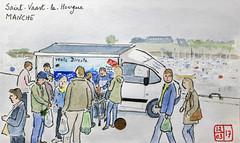 Le Tour de France virtuel - 50 - Manche (chando*) Tags: croquis sketch aquarelle watercolor france