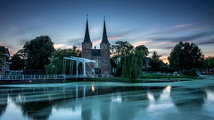 Delft (Mika Laitinen) Tags: canon7dmarkii delft europe leefilters netherlands tokina1116mm architecture city cityscape color colorful dusk landscape longexposure nightfall oldbuilding outdoor sky summer sunset twilight water wideangle zuidholland nl
