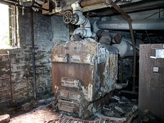 steam heating boiler (photography_isn't_terrorism) Tags: steam boiler rust rusted rusty abandoned neglected heatingboiler hdr coal coalburner