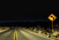 Turn Left (mcalma68) Tags: highway night california left sign