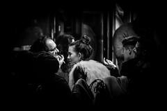 Nightlife (Günther Bayerle) Tags: black white women girl cafe bar