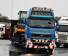Volvo FH Cranage Heavy Haulage PN10CCOM Frank Hilton IMG_5166 (Frank Hilton.) Tags: classic truck lorry eight wheel maudsley aec atkinson albion leyalnd bristol austin outside heavy haulage crane 8 axle
