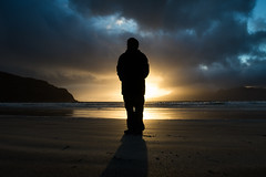 Laig Bay Silhouette (Ronan_C) Tags: laigbay dot silhouette beach evening sunset eigg scotland samyang24mmf14