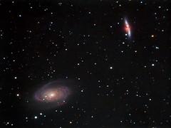 M81 & M82 - Bode's Galaxy and Cigar Galaxy (Twisted Astro) Tags: m81 m82 nebula bodes cigar gallaxy space deep imaging stars night sky ccd natal ed80 explore scientific phd2 maximdl pixinsight adobe lightroom orion atik 314l astronomy astrophotography