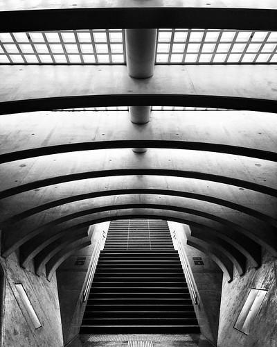 Dark Side of the Belgian Oculus ! (2/3) . . #liege #belgium #calatrava #oculus #building  #trainstation #architecturelovers #architexture #archilovers #urbanandstreet #architecturelovers #archidaily #geometric #architecture #createexplore #streetphotograp