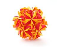 Алена, с днем рождения! (ronatka) Tags: kusudama modularorigami nataliaromanenko rectangle12 yellow red whitebackground birthday gift canoneos5dmarkiii ef85mmf18usm unnamed needsaname