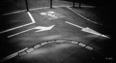 (Jack_from_Paris) Tags: r0000381bw ricoh gr apsc capture nx2 lr monochrom noiretblanc street bw wide angle reflets nuages clouds paris rue marquage vélo pistes cyclable cycle