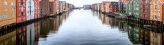 Trondheim, June 21, 2016 (Ulf Bodin) Tags: norway canoneos5dmarkiii summer canonef100400mmf4556lisiiusm building bryggen river norge reflection spegling architecture outdoor panorama urbanphotography nidelva trondheim sørtrøndelag no