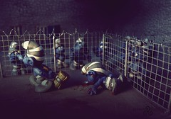 Scandal Smurf Prison Photos. Smurf cage fight (3) (torq42) Tags: smurf schlumpf prison shocking conditions scandal