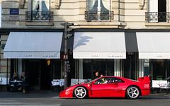 Café de l'Esplanade. (misterokz) Tags: ferrari f40 lm oz racing paris invalides carspotting spotting supercar exotic voiture car photograhy automobile misterokz