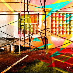 we can change things (Dom Guillochon) Tags: existence time life reality dream parallel world urban alley construction wall architecture geometry being nothingness people humans change things