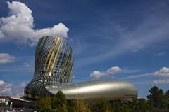 A curious cloud wonders what's inside... (Cecilia A) Tags: aquitaine bordeaux citéduvin france architecture canon canont3i canon600d nuage