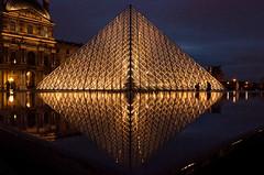 The Louvre diamond (deborahb0cch1) Tags: muséedulouvre louvre paris symmetry geometric géométrique musée museum architecture night nuit