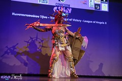 Comicdom Con Athens 2017: On stage: League of Angels (SpirosK photography) Tags: comicdomcon comicdomcon2017 comicdomconathens2017 athens greece convention spiroskphotography cosplay costumeplay onstage stage performance videogamecharacter game videogame leagueofangels