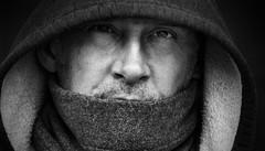Hood (blancobello) Tags: schwarzweiss kapuze hood people portrait bw sony charakter ausdruck db male