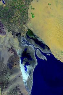 Landsat image of the Cerro Prieto Fault, the Colorado River delta, and Gran Desierto, Sonora and Baja California, Mexico