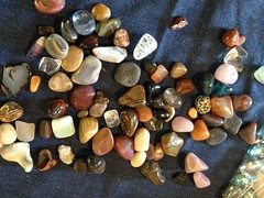Stone collection now given to the grandkids... (spelio) Tags: rocks pebbles polished tumbled collectable stuff souvenir