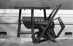 Abstract Rest (Arne Kuilman) Tags: ilford panf panfplus 135 amsterdam nederland netherlands film f100 nikon 50mm analogue analoog microdolx microdol homedeveloped stoel tafel table chair