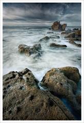 Stormy Sea (Fraser Ross) Tags: hopeman hopemanbeach hopemanstorm moraycoast stormysea tempest ontherocks hurricane largewaves breakers nikond800 topazsoftware