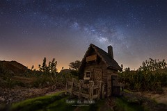 The Land of Nowhere (samy olabi) Tags: ifttt 500px trees sky forest mountains travel house tree beautiful grass stars green countryside mountain dream astronomy milky way astrophotography nowhere uae land
