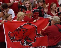 University of Arkansas Football vs Nichols State University (Garagewerks) Tags: college sport football university all state bigma sony sigma arkansas vs sec fayetteville nichols razorbacks 2014 50500mm f4563 slta77v