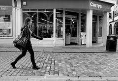 swing (teldow) Tags: street people urban blackandwhite music girl monochrome mono canterbury swing cobbles teldow