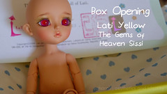 Lati Yellow Sissi Box Opening (saharali_) Tags: cute yellow ball doll pretty heaven dolls bjd limited gems abjd joint sissi jointed latidoll lati latiyellow