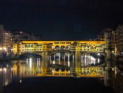 Ponte Vechio  EXPLORE - November 7th, 2014 - Thanks!!! (Micheo) Tags: bridge night río river puente noche florence best explore florencia firenze ok