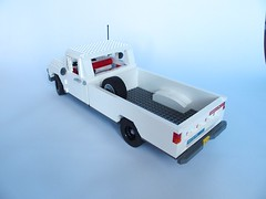 1964 Ford F-100 (Capacinio) Tags: white classic ford truck lego awesome f100 american v8 1964 lugnuts ford4lyf
