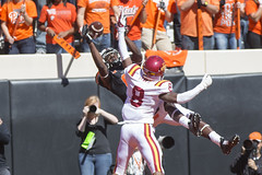 Image Taken at the Oklahoma State Cowboys vs Iowa State Cyclones, Saturday, October 4, 2014, Boone Pickens Stadium, Stillwater, OK (OSUAthletics) Tags: cowboys football osu cyclones isu pokes 2014 iowastateuniversity big12 oklahomastateuniversity seales jhajuanseales