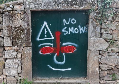 No smoke...