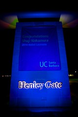 Henley Gate - middle portion (beltz6) Tags: physics ucsb nobelprize blueled bluelaser
