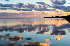 Geiger Key Sunset (beckstei) Tags: ocean pink blue sunset orange cloud west reflection landscape mexico big key gulf florida atlantic mangrove waterscape coppet geiger oceanscape coppit