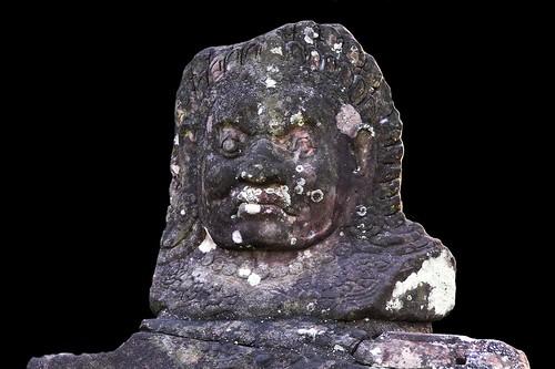 Cambodia - Angkor Thom - Statue At North Gate - 7b