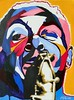 Vakseen-Bird Brain (vakseen) Tags: music abstract celebrity art painting jazz icon popart charlieparker cubism birdbrain vakseenart vakseen