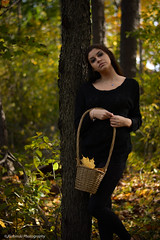 Dark Forest (reviriabinski) Tags: wood black girl forest river model deep surreal thinking darkphotography youngmodel darksurreal