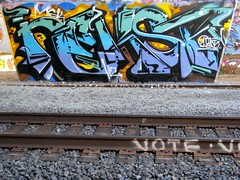 NEKST tribute with VOTE on the rail (DOGLOST) Tags: graffiti steel rip tribute msk vote d30 nekst