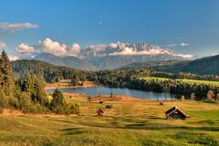Goldener Herbstabend am Geroldsee (a.lippmann) Tags: bayern oberbayern alpen hdr karwendel mittenwald alpenweltkarwendel geroldsee