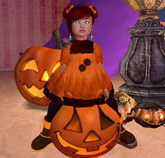 spooky Cutie (Alea Lamont) Tags: costumes girls boy baby halloween kids children pumpkin asian toddler babies mesh little witch avatars fairy tiny tots shape cuties ndmd