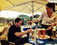 The day we arrived we went to schlossplatz to get beer and have some sun!