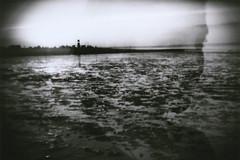Nemersiel, Germany (Ralph Arnold) Tags: film exposure double mutter nordsee agfaapx100 deine holga135bc