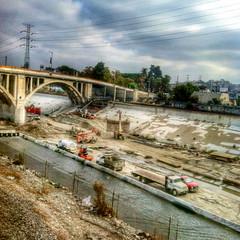 1st Street Bridge / Los Angeles (Unangelino) Tags: losangelesriver iphone4 hdrpicks snapseed
