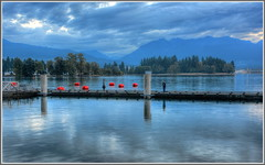 Early Morning Calm (tdlucas5000) Tags: morning canada water vancouver clouds harbor early calm coal hdr brittishcolumbia