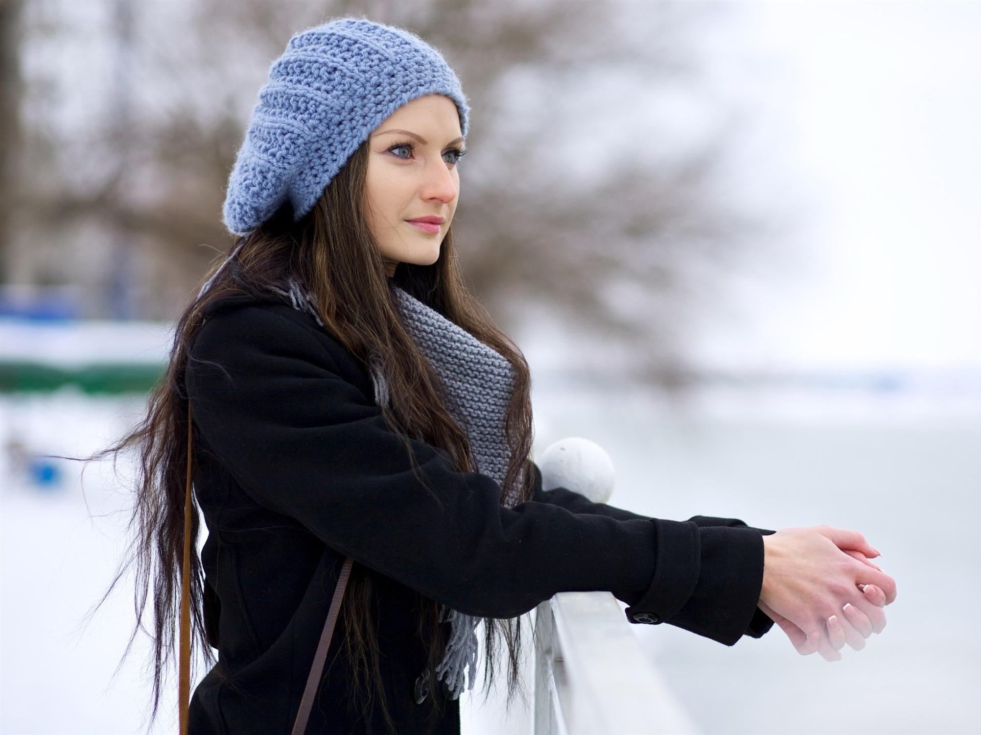可愛冬季女孩  圖片桌布王 690