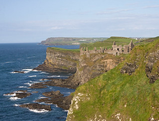 Dunluce Castle from the west