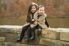 Girls on Stone Wall Portrait