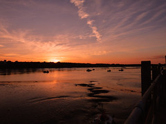 Channelside Sunset (GillWilson) Tags: sunset boats channel barrow