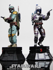 "Star Wars Boba Fett and Jango Fett (Garcia ""Imagética"" Junior) Tags: starwars yoda chess disney collection darthvader skywalker xadrez miniaturas coleção guerranasestrelas estatuetas planetadeagostini"