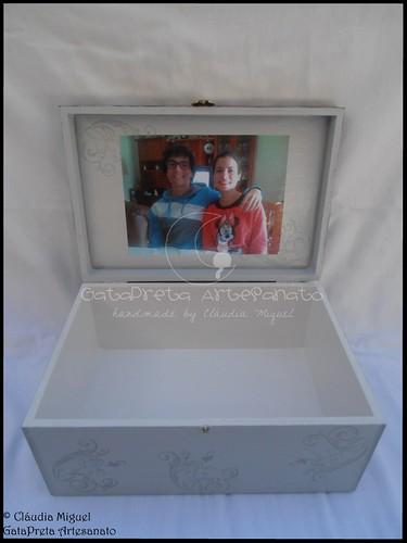 """Caixa para relógios e recordações """"O meu super Pai"""""""